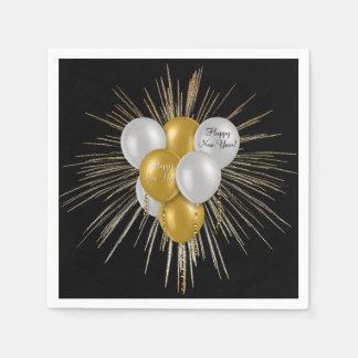 Helgdagar - gott nytt årballonger pappersservett