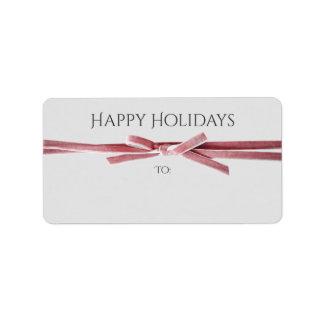 Helgdagar tilltalar, eller gåvan märker det | adressetikett