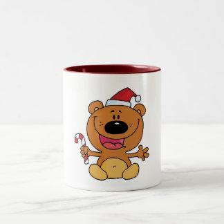 Helgdagbjörn Candycane Två-Tonad Mugg