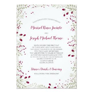 Holiday Branches Wedding Invitation