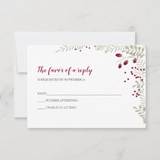 Holiday Branches Wedding RSVP