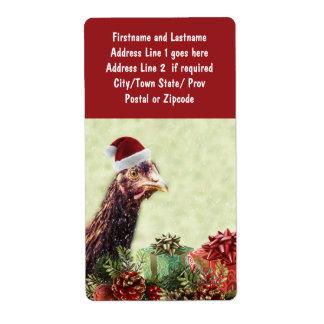 Helgdaghöna som kläs för jul med presenter fraktsedel