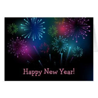 Helgdagkort för nytt år hälsningskort