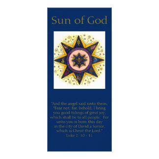 Helgdagkuggekort - sol av guden ställkort