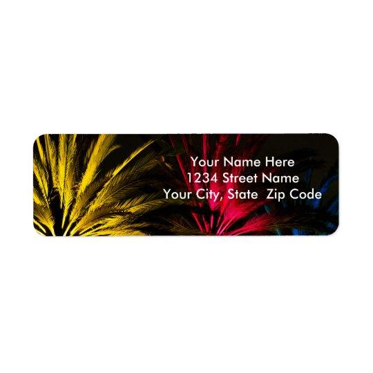 Helgdagljuspalmträd Returadress Etikett