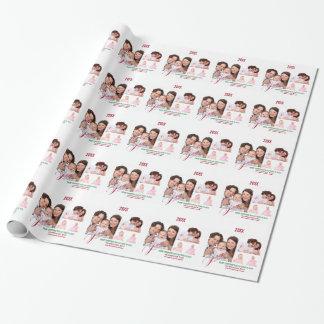 Helgdagpersonlig för 4 foto presentpapper