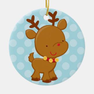 Helgdagprydnad för ren   rund julgransprydnad i keramik