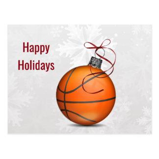 helgdagskort för basketbollprydnad vykort