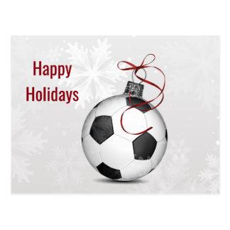 helgdagskort för fotbollbollprydnad vykort