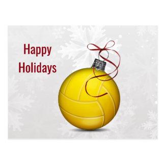 helgdagskort för volleybollbollprydnad vykort