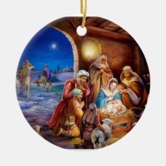 Helig familj julgransprydnad keramik