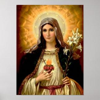 Helig jungfrulig mor Mary, mor av gudmallen Poster