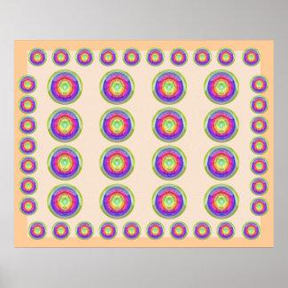 Helig purpurfärgad MÅNEvisning - grafiska Poster