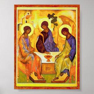 Helig Trinity av Andrei Rublev. Underbar målningti Poster