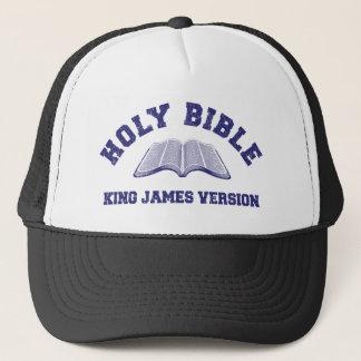 Helig version för bibelkung James i bedrövade Truckerkeps