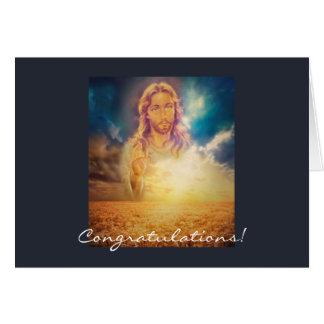 Heliga religiösa Jesus som välsignar Hälsningskort