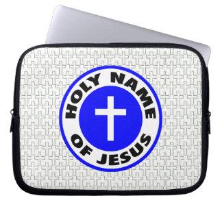 Heliganamn av Jesus Laptop Fodral