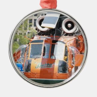 helikopter julgransprydnad metall