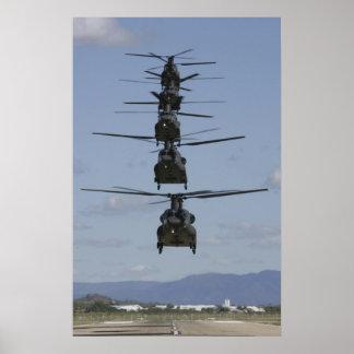 HELIKOPTERAFFISCH FÖR CHINOOK CH-47 POSTER
