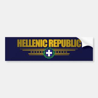 Hellenic Republic (Grekland) medaljong Bildekal