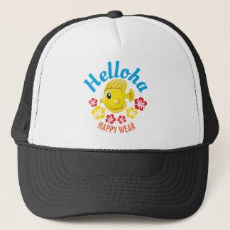 Helloha kvalitets- tropiska trasor med roligt och truckerkeps