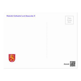 Helsingfors domkyrka och Alexander II Vykort
