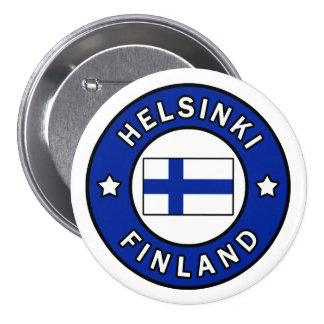 Helsingfors Finland Mellanstor Knapp Rund 7.6 Cm