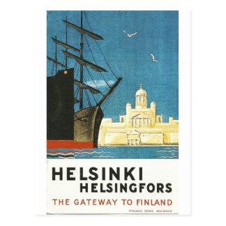 Helsingfors Finland vintage resorvykort Vykort