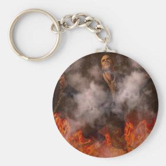 Helvete avfyrar rund nyckelring
