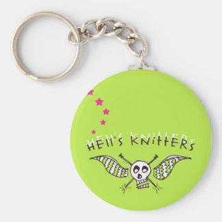 Helvete Knitterskeychain Rund Nyckelring