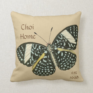 Hem- beställnings- dekorativ kudde för fjäril