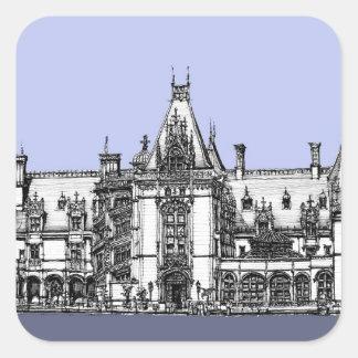 Hem- bläck för renaissance fyrkantigt klistermärke