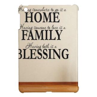Hem + Familj = välsignelse iPad Mini Mobil Skydd
