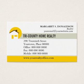 Hem- fastighetsmäklarevisitkort visitkort
