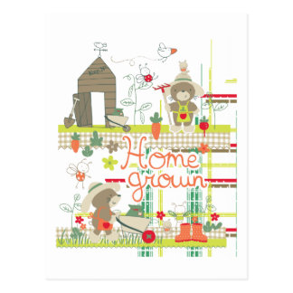 Hem - fullvuxen småbarn- & babygåva vykort