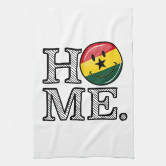 Hem- Ghana som ler flaggainflyttningsfest Kökshandduk