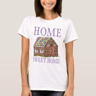 Hem- hus för pepparkaka för jul för sötsakhemgodis t-shirts