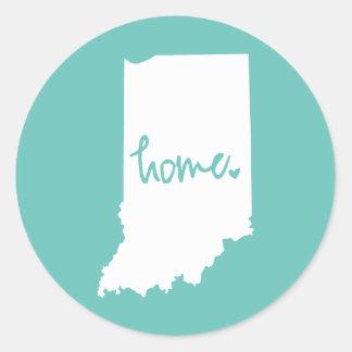 Hem- Indiana beställnings- färg Runt Klistermärke