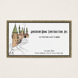 Hem- konstruktion eller arkitektur med slottet visitkort