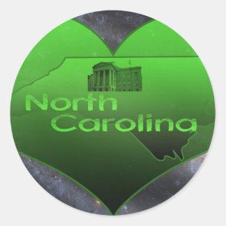 Hem- North Carolina Runt Klistermärke