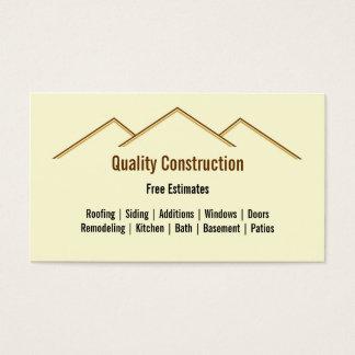 Hem- omdana/konstruktionsvisitkort visitkort