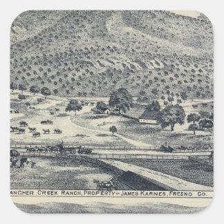 Hem- rancher i Fresno, Kalifornien Fyrkantigt Klistermärke