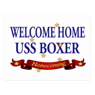 Hem- USS boxare för välkomnande Vykort