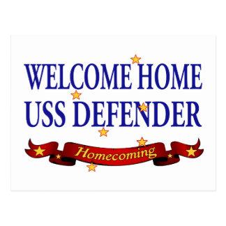 Hem- USS försvarare för välkomnande Vykort