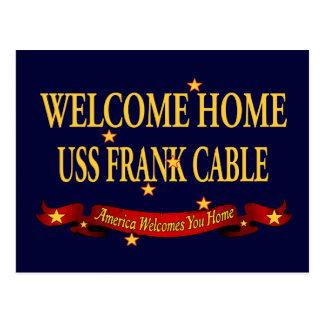 Hem- USS frank kabel för välkomnande Vykort