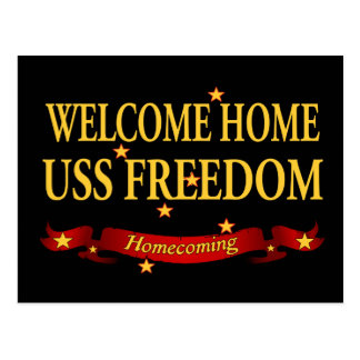 Hem- USS frihet för välkomnande Vykort