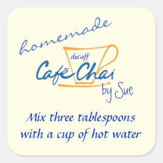 Hemlagade etiketter för Chai Teagåva av DIG
