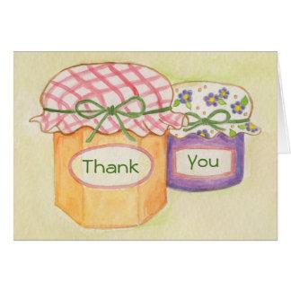 Hemlagade godbitar tackar dig att card hälsningskort