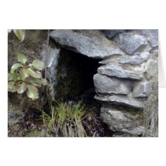 Hemlig grotta hälsningskort