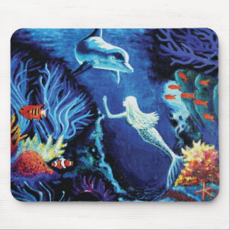 Hemligheter av korallreven - sjöjungfrumusen vadde musmatta